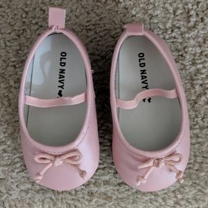 Old Navy Baby Ballet Flats Slip On Shoe Pink
